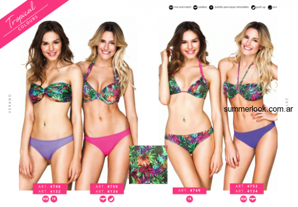 bikinis estampas tropicales Betty Boop Innocenza verano 2015