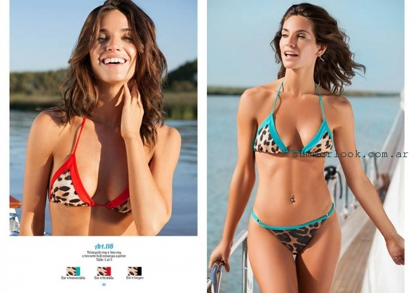Andressa Bikini animal print y colores intensos verano 2016