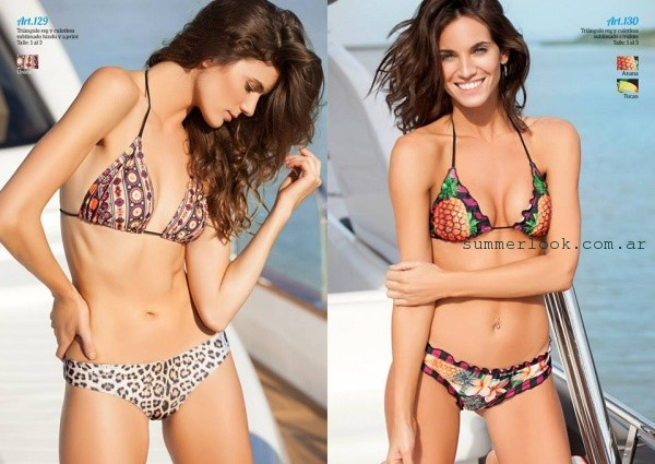 Andressa Bikini animal print y tribal verano 2016