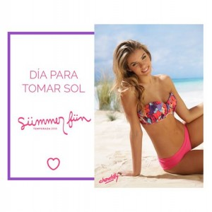 Chantilly bikini fucsia estampada verano 2016