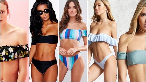 f405c486b5598 mallas escote bardot tendencia de moda verano 2018 Argentina - Looks ...
