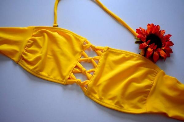 Bikinis Coloma amarilla verano 2018