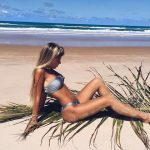 compañia de sol bikinis bando plateada primavera verano 2018