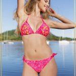 bikini estampa fucsia verano 2018 Maria Lolgi
