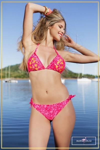 bikini estampa fucsia verano 2018 - Maria Lolgi