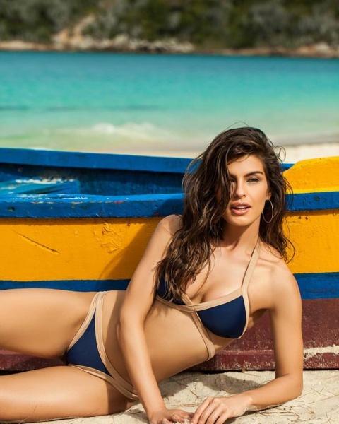 bikini azul Andressa primavera verana 2018