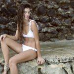 bikini escote redondo blanca verano 2018 Sweet Lady China Suarez