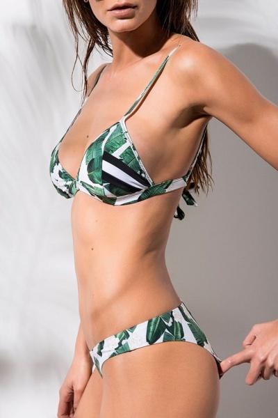 bikini estampada hojas verano 2018 Avocado Swimwear