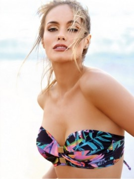 bikini bando con taza soft Marcela Koury verano 2018 – Moda en ... 57da30b96e7f