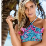 bikini top alto estapado Marcela Koury verano 2018