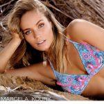 bikini triangulo estampada Marcela Koury verano 2018
