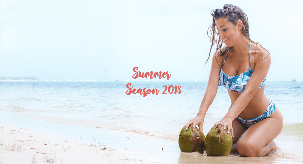 Bikini estampada tonos azules verano 2018 - MAREA