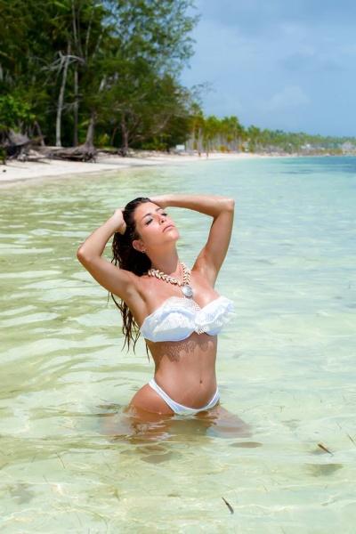 bikini blanca de broderie verano 2018 - MAREA