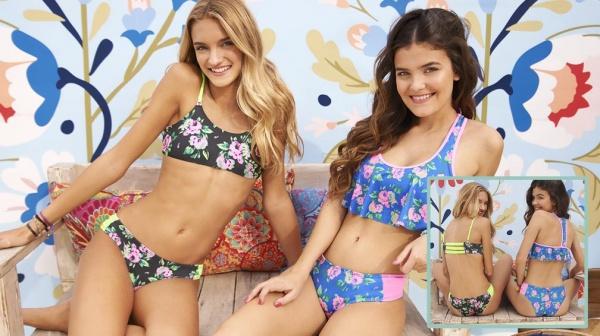 bikini floresada para adolescentes verano 2018 - tutta la frutta