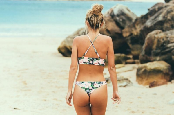 bikinis vichy y flores verano 2018 - Anna Bikini