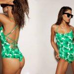 malla enteriza estampa verde verano 2018 Odisea Swimwear
