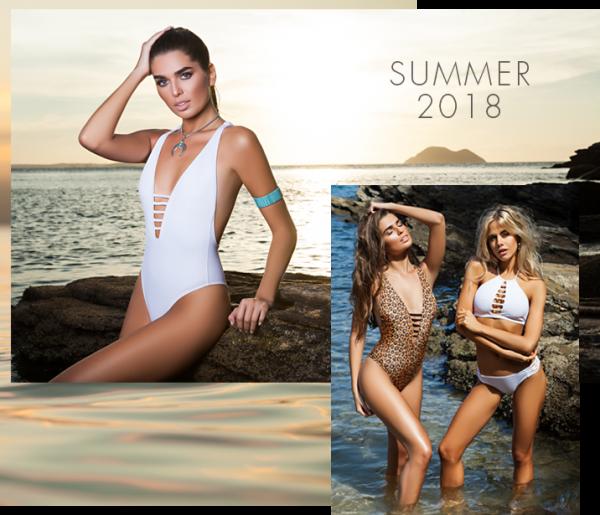 bikinis y enterizas escote con tiras verano 2018 - Promesse