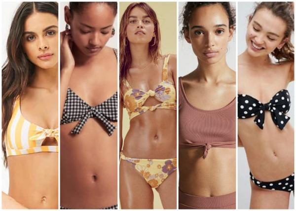 Mallas anudadas - moda en trajes de baño verano 2019