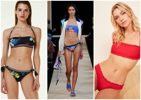 bikinis bando - moda en trajes de baño verano 2019