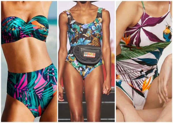estampa selvatica - moda en trajes de baño verano 2019
