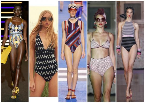 figuras geometrica - moda en trajes de baño verano 2019