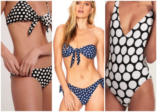 malla a lunares - moda en trajes de baño verano 2019