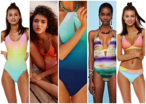 mallas degrade multicolor - moda en trajes de baño verano 2019