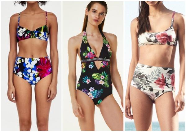 mallas estampa floral - moda en trajes de baño verano 2019