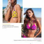bikini con apliques de stras verano 2019 Maria Lolgi