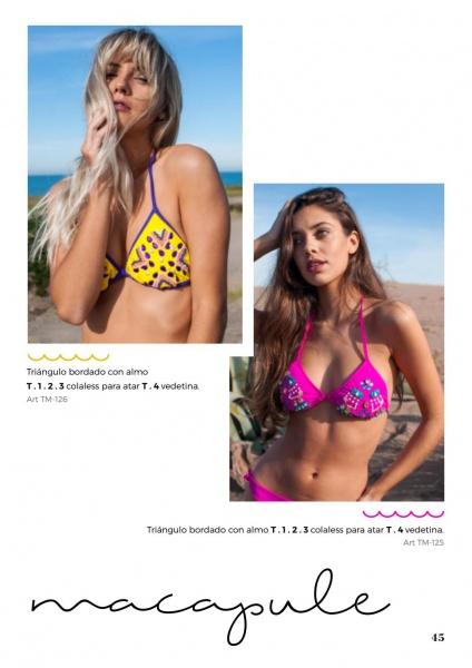 bikini con apliques de stras verano 2019 - Maria Lolgi
