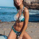 bikini estampa hojas verano 2019 Maria Lolgi