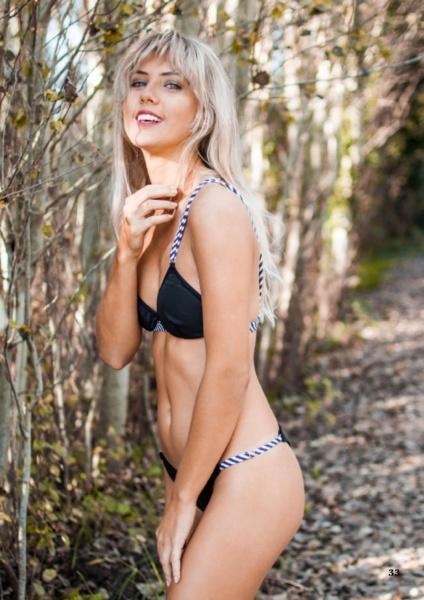 bikini negra con tiras trenzadas verano 2019 - Maria Lolgi