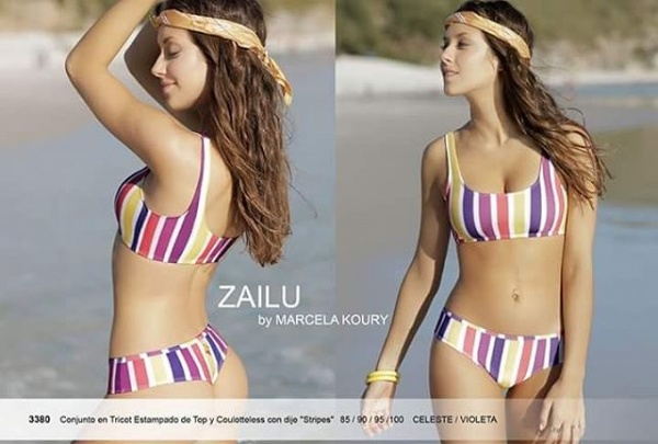 Bikini deportiva a rayas verano 2019 by Zailu