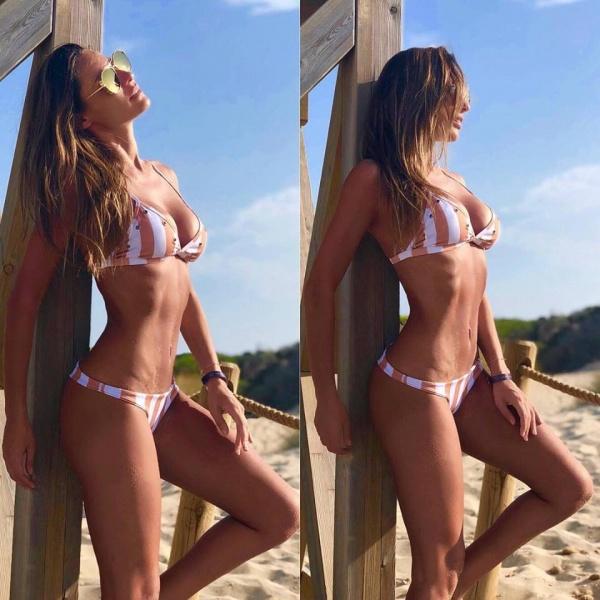 Bikini a rayas verano 2019 - Elida