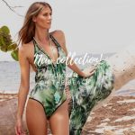 Swim Days malla enteriza verde estampada verano 2019