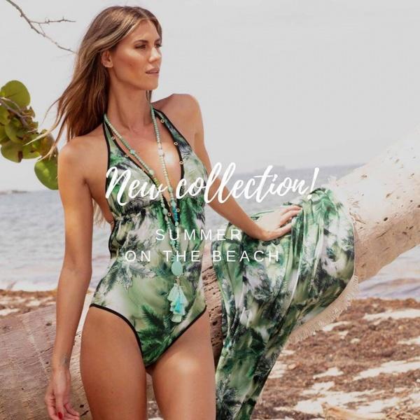 Swim Days - malla enteriza verde estampada verano 2019