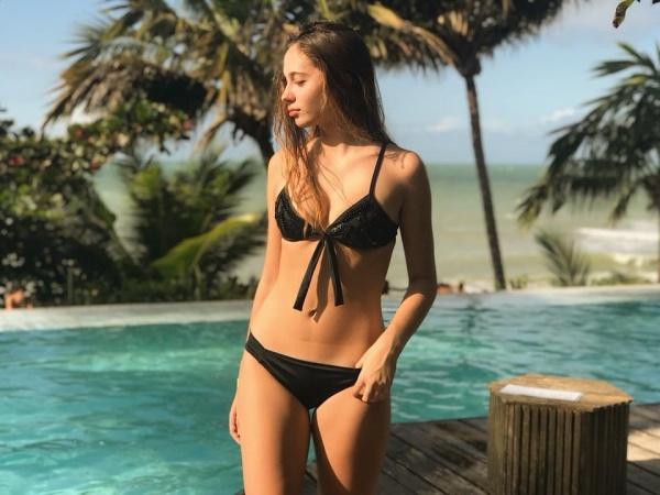 bikini negra bordada verano 2019 - Mada Store