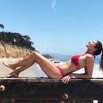 bikini roja multiples tiras Elida verano 2019