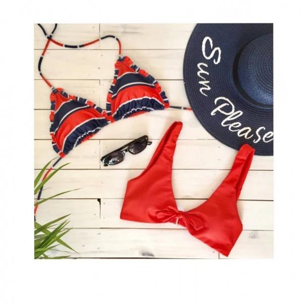 bikini roja y azul verano 2019 - Noxion