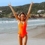 malla enteriza naranja verano 2019 Noxion