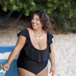 Malla enteriza negra talle grande verano 2019 Kachet