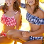bikini a cuadros malla adolescente verano 2019 Tutta la frutta