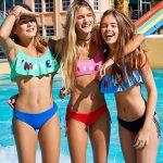 bikini con volado malla adolescente verano 2019 Tutta la frutta
