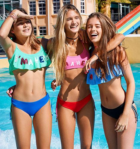 bikini con volado - malla adolescente verano 2019 - Tutta la frutta