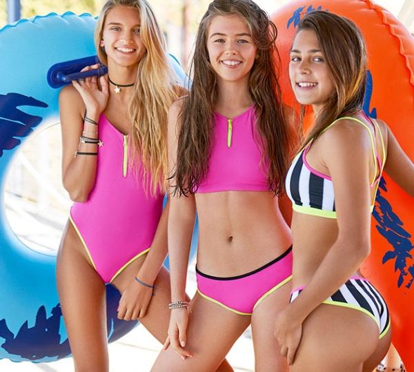 mallas detalles fluor - malla adolescente verano 2019 - Tutta la frutta