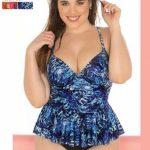 tankini estampada azul Yamiel verano 2019