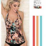 trikini estampada batik milticolor Yamiel verano 2019