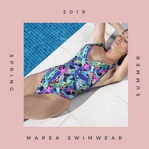 Malla enteriza estampa multicolor verano 2019 Marea