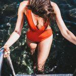 Malla enteriza naranja verano 2019 Abra la cabra