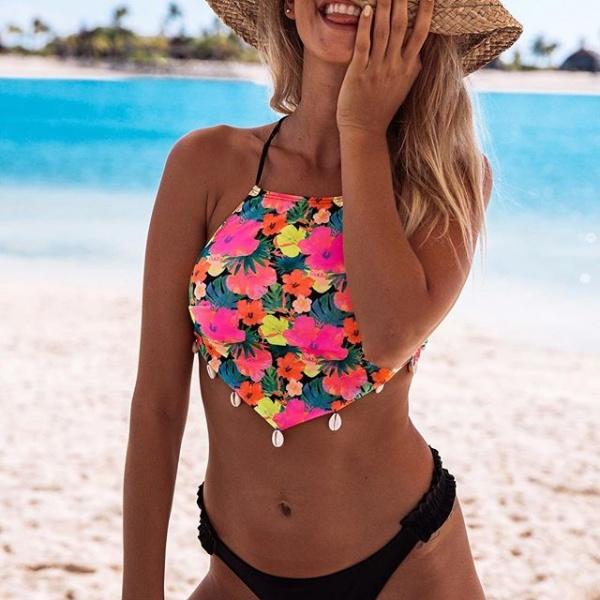 bikini floreada verano 2019 - Guadalupe Cid